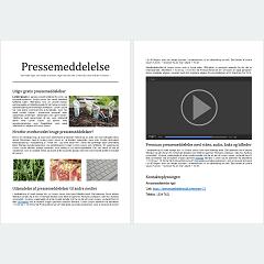 Eksempel på pressemeddelelse - Premium