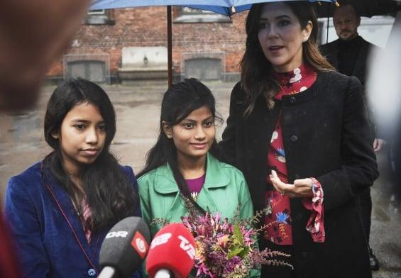 PRESSEMEDDELELSE - H.K.H. Kronprinsessen gav sin stemme til slummens piger