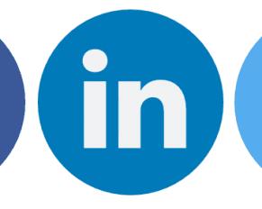 Pressemeddelelse Sociale medier Ikoner
