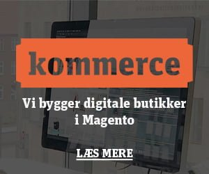 Magento shop kommerce Webshop Pressemeddelelse