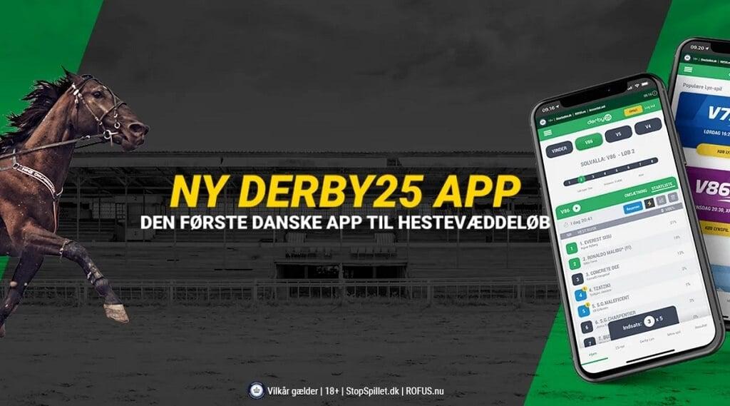 PRESSEMEDDELELSE: Derby25 app'en – den første danske app til hestevæddeløb
