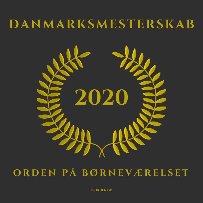 """PRESSEMEDDELELSE: Positiv COVID-19 historie med Danmarksmesterskab 2020 """"ORDEN på børneværelset"""""""