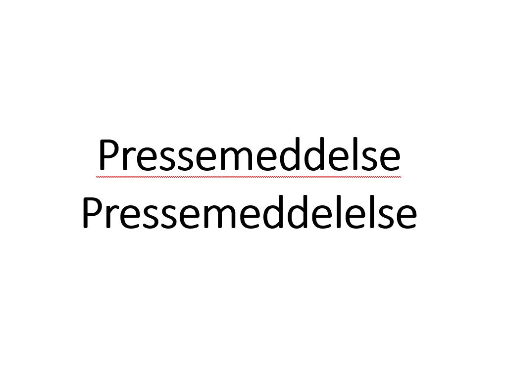 Pressemeddelse staves ofte forkert