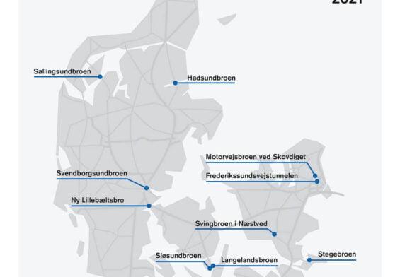 PRESSEMEDDELELSE – Vejdirektoratet renoverer ti broer og tunneler i 2021