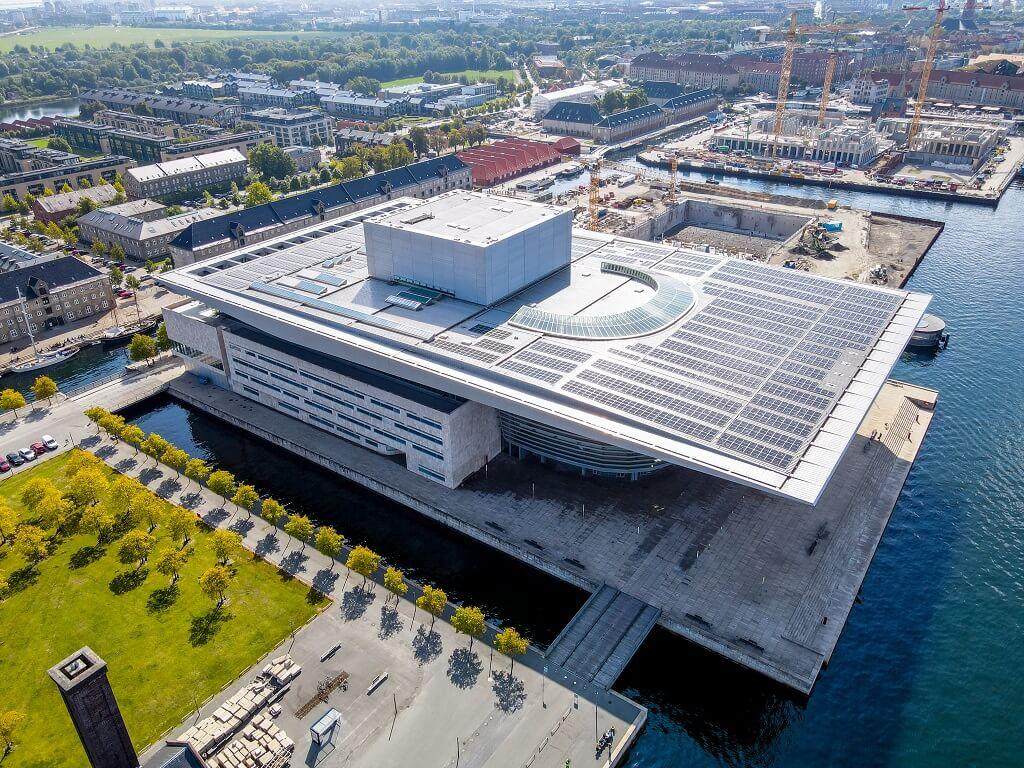 PRESSEMEDDELELSE – Solceller på taget af Den Kongelige Opera